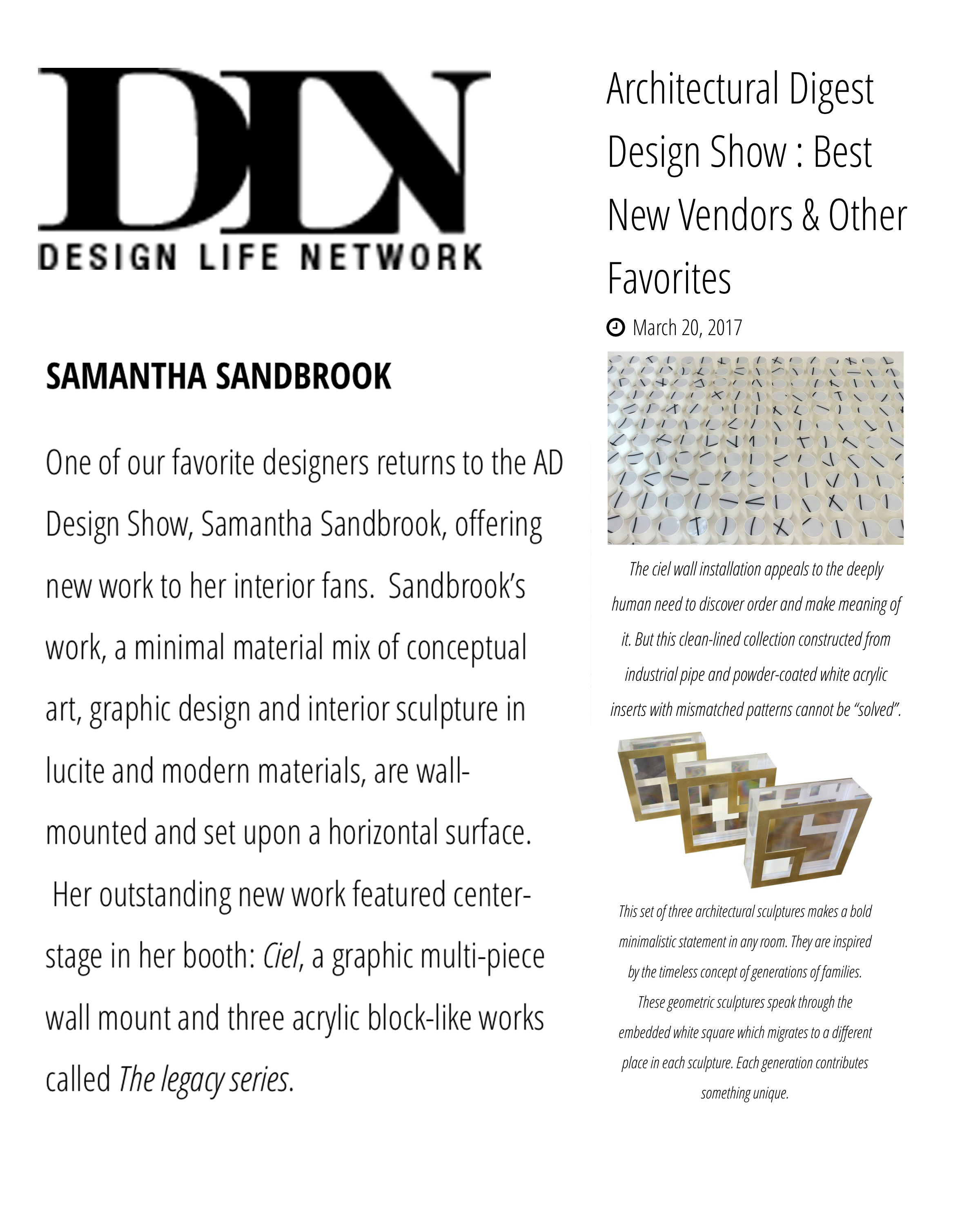 Design Life Network, Architectural Digest Design Show: Best New Vendors & Other Favorites, NYC