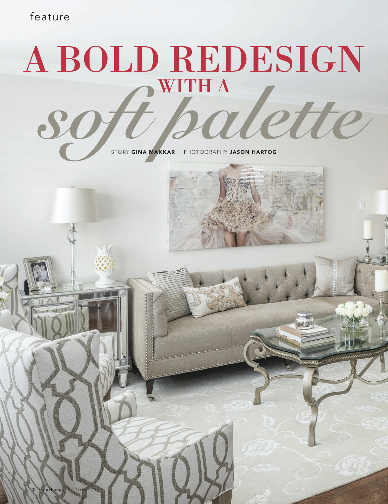 Our Homes, A Bold Redesign With a Soft Palette, Oakville